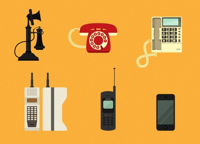 Telephone history and evolution