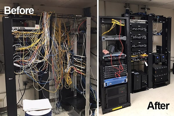 Tidy up Cabinet structured Cabling Service